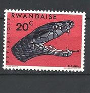 RWANDA  1967 Snakes MNH - Rwanda