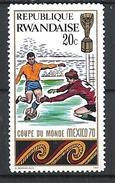 RWANDA 1970 Football World Cup - Mexico HINGED - Rwanda