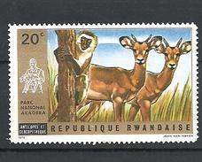 RWANDA 1972 Akagera National Park GAZELLA HINGED - Rwanda