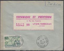 Madagascar 1957, Airmail Cover Manjakandriana To Lyon W./postmark Manjakandriana - Madagascar (1889-1960)