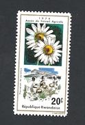 RWANDA 1975 Agricultural Labour Year  MNH FLOWER - Rwanda