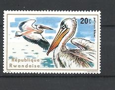 RWANDA 1975 Aquatic Birds MNH PELICANOUS - Rwanda