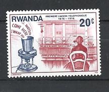 RWANDA  1976 The 100th Anniversary Of The Telephone  MNH - Rwanda