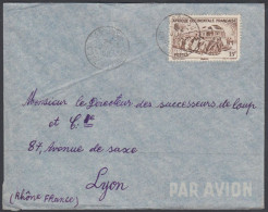French West Africa 1952, Airmail Cover Abidjan To Lyon W./postmark Abidjan - A.O.F. (1934-1959)