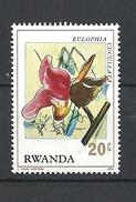 RWANDA  1976 Orchids MNH - Rwanda