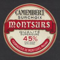 Etiquette De Fromage  Camembert  -  Fromagerie De Montsûrs  (53  ) - Fromage