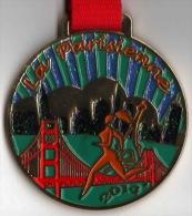 Médaille Marathon : La Parisienne 2014 Avec Ruban Authentique - France