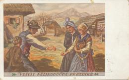 """M GASPARI - """"Vesele Velikonocne Praznike"""" SLOVENIA, Old  Postcard - Slowenien"""