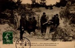 GUERRE 1914...ARTILLERIE DE 75..  ..CPA ANIMEE - War 1914-18