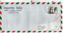 Italy Via Macedonia,Yugoslavia.Letter By Air Mail .nice Stamp ,motive Charles Chaplin - 6. 1946-.. Republic
