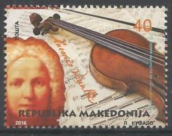 MK 2016-774 ANTONIO VIVALDI, MAKEDONIA, 1 X 1v, MNH - Mazedonien