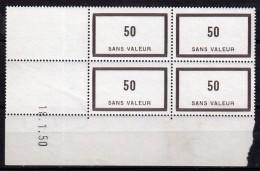 F 90**  COIN DATE Du 18.1.50 - 50 BRUN VIOLET - Phantom