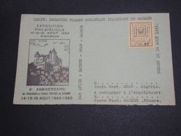 FRANCE  - Timbre De Grêve De Saumur Sur Devant D ' Enveloppe En 1953 - A Voir - L  3644 - Postmark Collection (Covers)