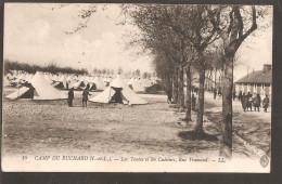 37. Avon. Camp Du Ruchard. Les Tentes Et Les Cuisines. MARQUES: POSTES MILITAIRE BELGE Et CENSURE MILITAIRE - Weltkrieg 1914-18