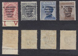 1922 Congresso Trieste MH Cpl Sovrastampa Non Garantita - 1900-44 Vittorio Emanuele III