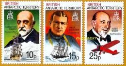 Antarctique Britannique, British Antarctic **LUXE 1981 P 105 à 107 Série 3v - Territoire Antarctique Britannique  (BAT)