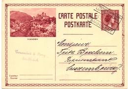 Luxembourg / Luxemburg Entier Postal / Postkarte Vianden 4-2-1933  Toussaint Berg Ettelbrück - Enteros Postales