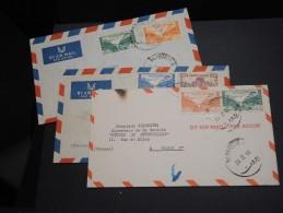 LIBAN - Lot De 3 Enveloppes , Période 1950 Pour La France - A Voir - L  3655 - Libanon