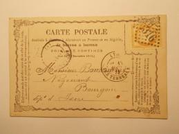 Marcophilie  Cachet Lettre Obliteration Timbre  - CP Pionnière N°59 LYON 1879  (760) - Marcophilie (Lettres)