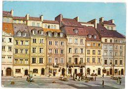 Pologne--VARSOVIE--Rynek Starego Miasta (petite Animation) Cpsm 15 X 10  éd  ???---Timbre Au Dos - Pologne
