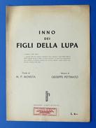 Musica Spartito - Inno Dei Figli Della Lupa - 1935 Ca. - Music & Instruments