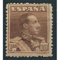 ES323STV-LFT***323STPOT.España.Spain. Espagne.REY ALFONSO Xlll.VAQUER .1922/30.(Ed 323**)  Sin  Charnela - Otros
