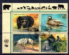 United Nations/Vienna - 2001 - Endangered Species (9th Series) - Used/CTO - Wien - Internationales Zentrum