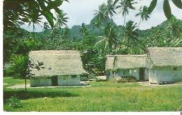 Native Dwellings, Rarotonga, Cook Islands Crease Line - Cook