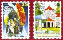 Christmas, Sri Lanka Stamps, Christmas 2011, Both Stamps MNH - Christianity