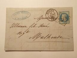 Marcophilie  Cachet Lettre Obliteration Timbre  - REUILLY 1868 (775) - 1849-1876: Période Classique