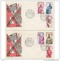 ESSPD1438STV-LFTSPD1438TAES.Spain,Espagne,TARJETAS MAXIMAS.Escultor.ALONSO BERRUGUETE.1962 (Ed 1438/43). - Escultura