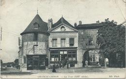 58 - Chateau Chinon - La Tour (XIII Siècle) - Commerces - Tabac - Animée - Chateau Chinon