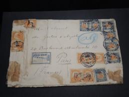 MEXIQUE - Enveloppe En Recommandée De Véra Cruz Pour La France En 1913 Ayant Souffert Du Voyage - A Voir - L  3674 - Mexico
