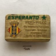 Badge (Pin) ZN003034 - Esperanto Congress Perpignan 1988 - Associazioni