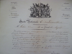 Légion De Chasseurs Nomination Au Grade De Sergnet 1837 Brandowillers Marne - Documenti