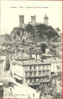 09 - Ariège - Foix - Entrée De La Ville Et Château - Charette - Imprimerie - Foix