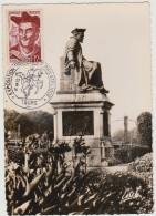 Maximum Card - Chinon - Statue De Rabelais - Exposition Postale Et Philatélique - Tours - 1951 - Maximum Cards