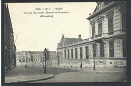 CPA - MONS - Banque Nationale Rue De La Houssière - Série III N° 3    // - Mons