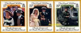 South Géorgia, Georgie Du Sud **LUXE 1986 P 163 à 165 Série 3v - South Georgia