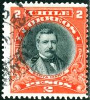 CILE, CHILE, COMMEMORATIVO, DOMINGO SANTA MARIA, 1911, FRANCOBOLLO USATO - Chile