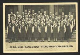 ZANGGROEP ´T SCHUREND SCHARNIERKEN - K.B.G. ZELE - FOTOKAART  (19 Cm X 13 Cm) (5038) - Artistes