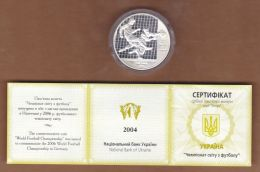 AC - UKRAINE - FIFA 2006 WORLD FOOTBALL CHAMPIONSHIP IN GERMANY COMMEMORATIVE SILVER COIN PROOF - UNCIRCULATED IN BOX - Ukraine