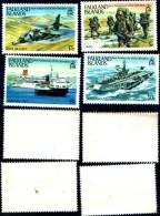 86001)  FALKLAND, AVIONS, * *, YVERT 391/4,  MNH - Falkland