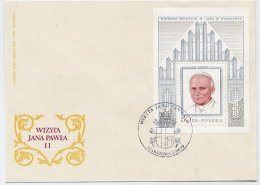 POLAND 1990 Papal Visit Silver Block  On FDC  Michel Block 76 - FDC