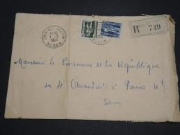 ALGERIE – Env Recommandée Pour La France – Détaillons Petite Archive - A Voir – Lot N° 18960 - Algérie (1924-1962)