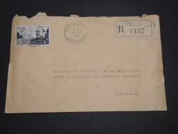 ALGERIE – Env Recommandée Pour La France – Détaillons Petite Archive - A Voir – Lot N° 18962 - Algérie (1924-1962)