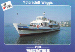 Ak Vierwaldstättersee, Motorschiff Weggis - Ferries