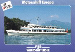 Ak Vierwaldstättersee, Motorschiff Europa - Ferries