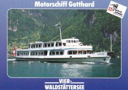 Ak Vierwaldstättersee, Motorschiff Gotthard - Ferries