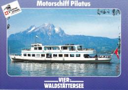 Ak Vierwaldstättersee, Motorschiff Pilatus - Fähren